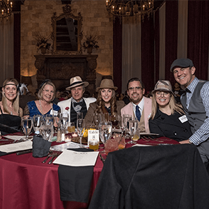 Nashville Murder Mystery party guests at the table